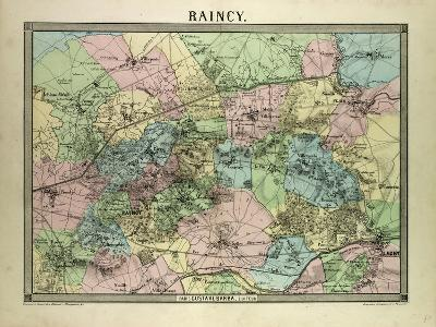 Map of Raincy France--Giclee Print