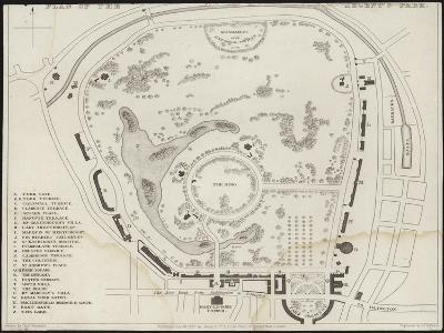 Map of Regent's Park-Thomas Hosmer Shepherd-Giclee Print