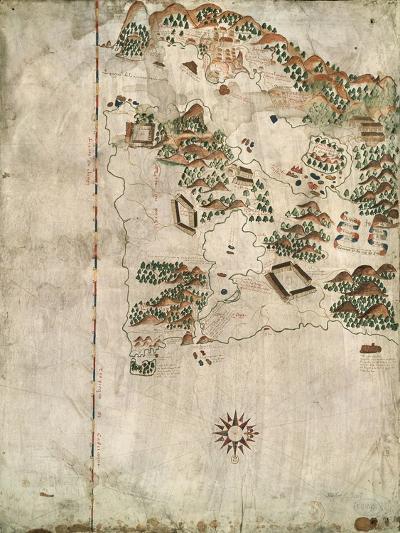 Map of Rio De Janeiro, 16th Century-Jacques-emile Blanche-Giclee Print