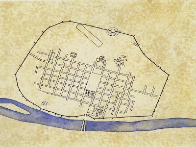 Map of Roman Augusta Treverorum--Giclee Print