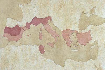 Map of Roman Territories BC--Giclee Print