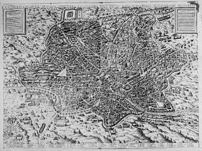 Map of Rome, 1579-Mario Cartaro-Giclee Print