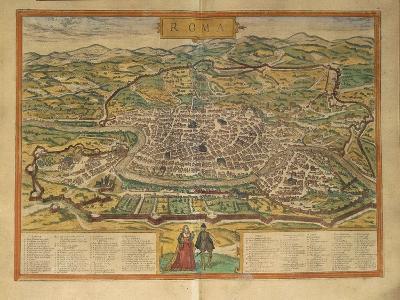 Map of Rome from Civitates Orbis Terrarum--Giclee Print