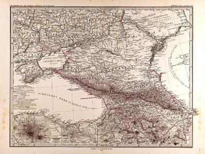 Map of Russia, 1873--Giclee Print