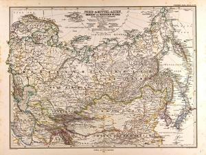 Map of Russia, 1874
