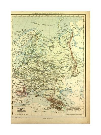 Map of Russia and Romania--Giclee Print