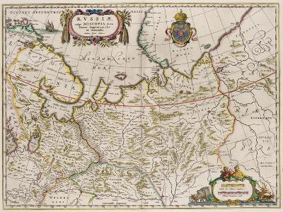 Map of Russia (From: Partes Septentrionalis Et Orientali), 1630S-Isaac Abrahamsz Massa-Giclee Print