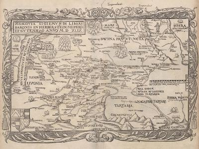 Map of Russia (From: Rerum Moscoviticarum Commentarii.), 1556--Giclee Print