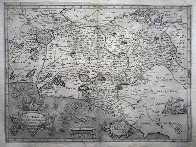 Map of San Pietro in Sabina and Duchy of Castro--Giclee Print