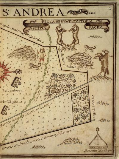 Map of Sant Andrea, Italy, from the Atlas Atlante Delle Locazioni, 1687-1697-Antonio and Nunzio Michele-Giclee Print