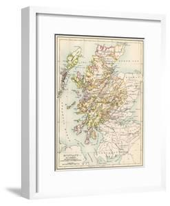 Map of Scotland in the 1520s, Showing Territories of the Highland Clans
