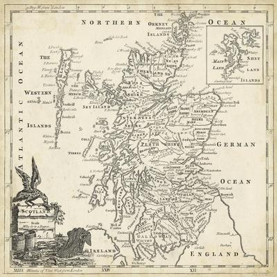 photograph about Printable Map of Scotland titled Map of Scotland Artwork Print by way of T. Jeffreys
