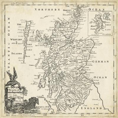 Map of Scotland-T^ Jeffreys-Art Print