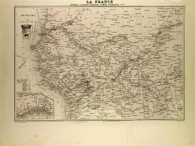 Map of Senegal Sudan and Guinea 1896--Giclee Print