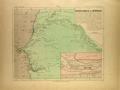 Map of Senegal--Giclee Print