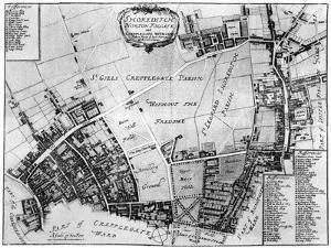 Map of Shoreditch, Norton Folgate and Cripplegate