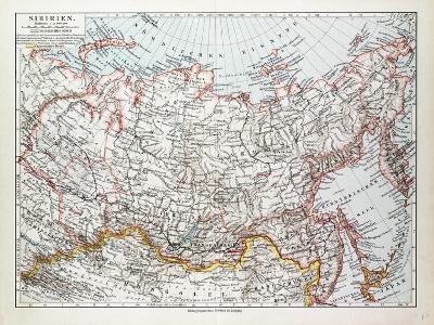 Map of Siberia Russia 1899--Giclee Print