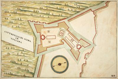 Map of Siena and its Defensive Structures--Giclee Print