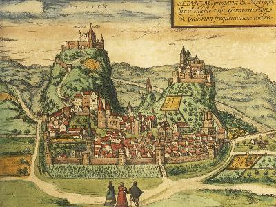 Map of Sion from Civitates Orbis Terrarum--Giclee Print