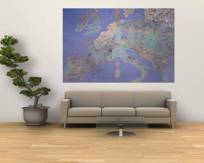 Map of Sixteenth Century Europe, from the Sala Del Mappamondo circa 1574-5-Giovanni De' Vecchi-Wall Mural