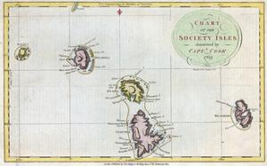 Map of Society Islands