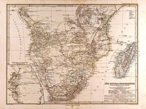 Map of South Africa, 1872