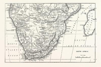 Map of South Africa--Giclee Print