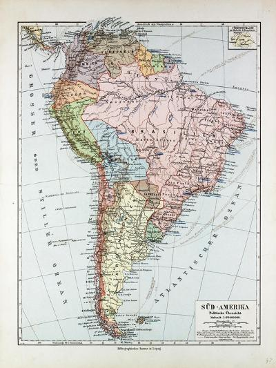 Map of South America 1899--Giclee Print