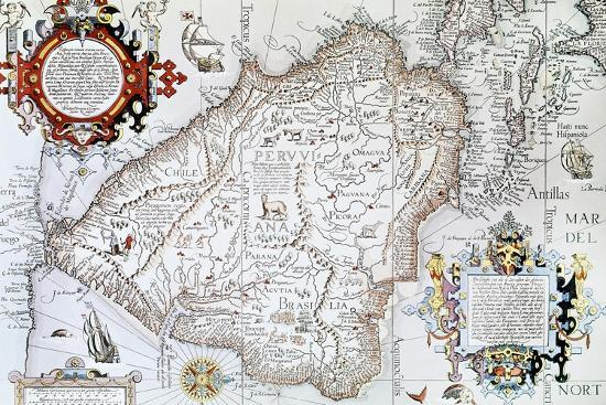 Map of South America, Private Collection, Madrid, Spain--Giclee Print