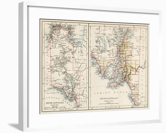 Map of South Austrailia, 1870s--Framed Giclee Print
