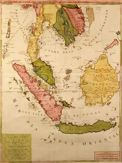 Map of South East Asia--Giclee Print