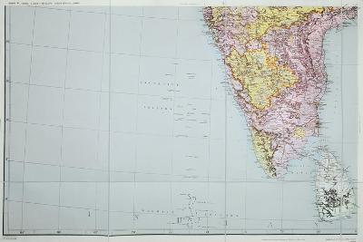 Map of Southern India, 1898--Giclee Print