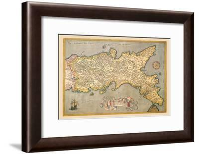 Map of Southern Italy-Abraham Ortelius-Framed Art Print
