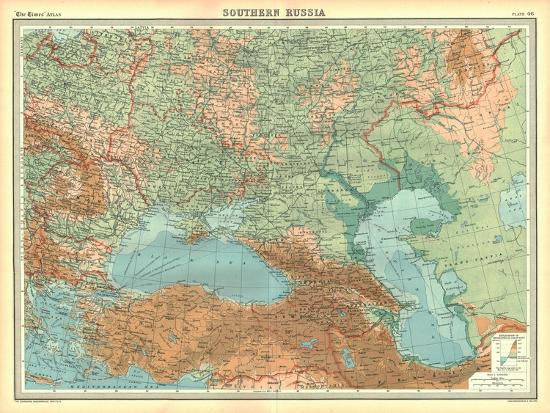Map of Southern Russia-Unknown-Giclee Print