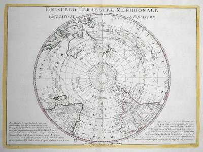Map of Southern Terrestrial Hemisphere--Giclee Print