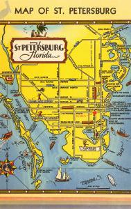 Map of St. Petersburg, Florida
