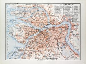 Map of St. Petersburg Russia, 1899