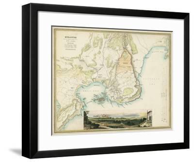 Map of Syracuse-R.B. Davies-Framed Giclee Print
