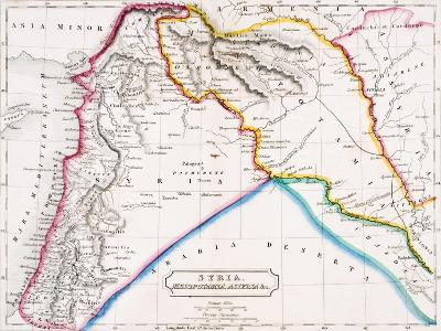 Map of Syria, Mesopotamia, Assyria &C., from 'The Atlas of Ancient Geography', by Butler…--Giclee Print