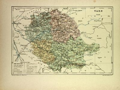 Map of Tarn France--Giclee Print