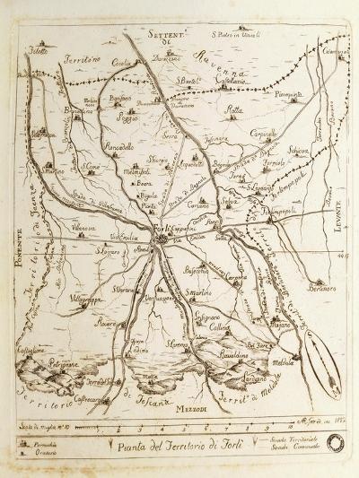 Map of Territory of Forli, 1822--Giclee Print