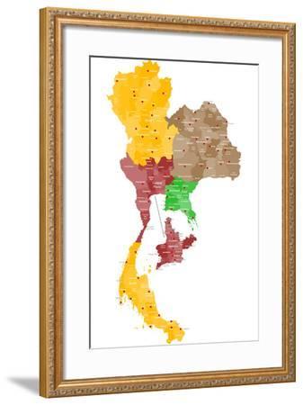 Map of Thailand-malachy120-Framed Art Print