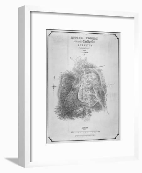 Map of the Ancient Earthworks at Loughton Camp Made around Ad 52 in Epping Forest, Essex, 1876-William d'Oyley-Framed Giclee Print