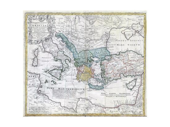 Map of the Ancient Greek World--Premium Giclee Print
