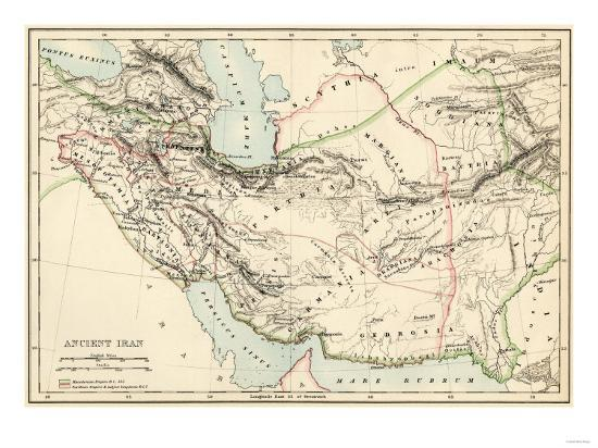 Map of the Ancient Persian Empire Giclee Print by | Art.com