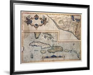 Map of the Antilles Islands, 16th Century, Museo de America, Madrid