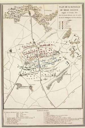 Map of the Battle of Waterloo, 18 June 1815