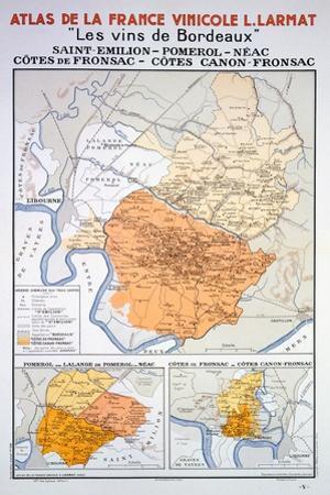 Map of the Bordeaux Region: Saint Emillion