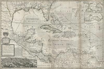 Map of the Caribbean, 1715-Hermann Moll-Giclee Print