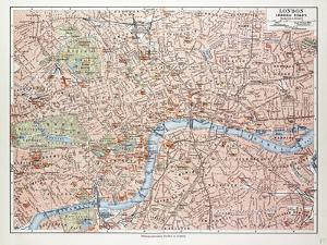 Map of the Centre of London Great Britain 1899